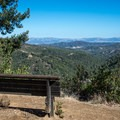 Seat with an awesome view at Manzanita Point.- Alec Canyon + Triple Falls Trail