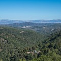 View from the Santa Cruz Mountains overlooking the Central Valley.- Alec Canyon + Triple Falls Trail