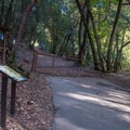 Information kiosk and trailhead for Waterfall Loop.- Alec Canyon + Triple Falls Trail