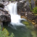 Queens River Falls is hidden from view, but attentive hikers will recongize the sound of water plunging into a deep pool.  A little off-trail hiking will lead to this great swimming hole and waterfall.- Queens River Trailhead to Queens River Falls + Nanny Creek