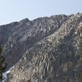 Northwest face of Mount Everly from the Everly Divide.- Queens River, Lake 8,696 + Queens River Divide
