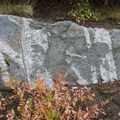 Granite rock with several intruding dikes.- Queens River, Lake 8,696 + Queens River Divide