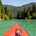 Exploring the Dry Creek inlet.- Baker Lake Sea Kayaking