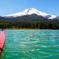 Mount Baker (10,781') from Baker Lake.- Baker Lake Sea Kayaking