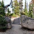 Large rocks along the Washington Pass Overlook loop.- Washington Pass Overlook