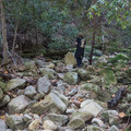 Pile of boulders at the trail's end.- Alec Canyon + Triple Falls Trail