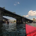 Paddling northwest toward the University Bridge.- Portage Bay Sea Kayaking