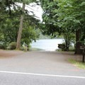 The boat ramp near the Southend sites.- Orcas Island: Moran State Park Campgrounds