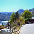 Lake Sabrina boat landing.- Lake Sabrina Loop Hike