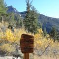 John Muir Wilderness boundary.- Lake Sabrina Loop Hike