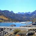 Lake Sabrina dam.- Lake Sabrina Canoe/Kayak