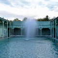 The larger pool is the cooler of the two.- Keough Hot Springs