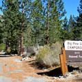 Big Pine Creek Campgound entrance.- Big Pine Creek Campground