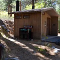 Vault toilets and potable water at Big Pine Creek Campground.- Big Pine Creek Campground