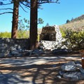 Old cabin turned into a campsite.- Big Pine Creek Campground