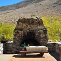 Old campsite fireplace.- Big Pine Creek Campground