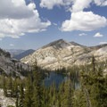 Looking down onto Pats Lake from the trail to Arrowhead Lake.- Pats Lake, Arrowhead Lake, + Queens River Divide