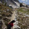 The trail from Arrowhead to the Queens River Divide.- Pats Lake, Arrowhead Lake, + Queens River Divide