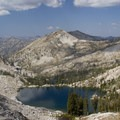 Looking down onto Arrowhead Lake from near the Queens River Divide.- Pats Lake, Arrowhead Lake, + Queens River Divide