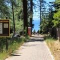 Access path to Speedboat Beach.- Speedboat Beach