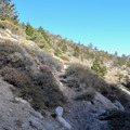 Baker Creek Trail junction.- Big Pine Creek North Fork Hiking Trail, First and Second Lake