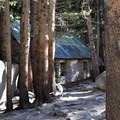 Big Pine Creek Wilderness Ranger Cabin.- Big Pine Creek North Fork Hiking Trail, First and Second Lake