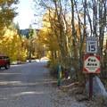 Sabrina Campground entrance.- Sabrina Campground