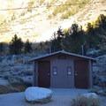 Vault toilets and potable water at Sabrina Campground.- Sabrina Campground