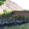 Small bridge over the Owens River leading to more day use areas.- Pleasant Valley Campground