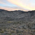 Sunset over the Buttermilks.- Buttermilk Country Dispersed Camping