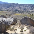 View across the boulders.- Buttermilk Country Rock Climbing