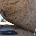 Drifter Boulder: High Plains Drifter V7.- Buttermilk Country Rock Climbing