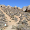 Main Access Trailhead.- Buttermilk Country Rock Climbing