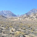 Buttermilk Country with Basin Mountain and the Eastern Sierra in the background.- Buttermilk Country Rock Climbing