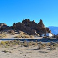 RV camping at Alabama Hills Dispersed Camping Area.- Alabama Hills Dispersed Camping Area