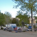 Tent camping area at Keough's Hot Springs Campground.- Keough's Hot Springs Campground