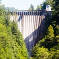 A view of the 285-foot Lower Baker Dam.- Lake Shannon Sea Kayaking