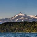 Mount Shuskan (9,127') in the afternoon sun.- Lake Shannon Sea Kayaking