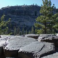 Looking west from the top of Devils Postpile.- Devils Postpile National Monument