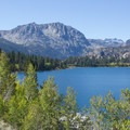 Carson Peak seen from June Lake.- June Lake Loop