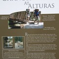 Trailhead sign with a little bit of history about the rehabilitation of Alturas Creek Canyon.- Eureka Gulch