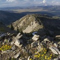 The Sawtooth Valley and White Cloud Mountains from the summit of Eureka Peak.- Eureka Gulch