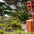An old buoy at Point Pinos Lighthouse.- Point Pinos Lighthouse