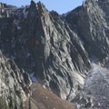 Unnamed granite spire at the head of Saddleback cirque.- Saddleback Lakes