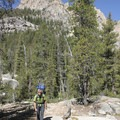 The hike up to Saddleback Lakes is an unofficial trail and one of the steepest in the Sawtooths.- Saddleback Lakes