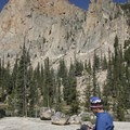 There are some beautiful slab camps on the south and west shores of the second Saddleback Lake.- Saddleback Lakes