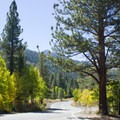 The scenic drive of June Lake Loop.- June Lake Loop