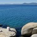 Lake Tahoe view from Memorial Park Overlook.- Memorial Point Overlook
