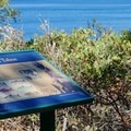 Informational signs at Memorial Point Overlook.- Memorial Point Overlook