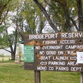 Boat launches are suspended when water levels are low.- Bridgeport Reservoir